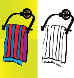 Bath towel vector
