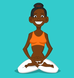 Woman in the lotus position vector