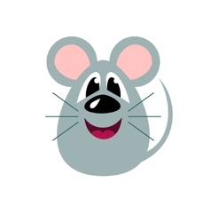 Cute cartoon mouse stylized funny monster vector