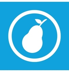 Pear sign icon vector