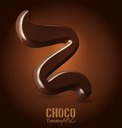 Chocolate dark 3d typeset vector