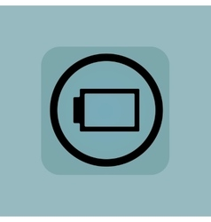 Pale blue discharged battery sign vector