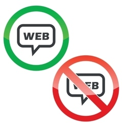 Web message permission signs vector