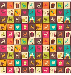 Seamless patterns with colorful squares vector