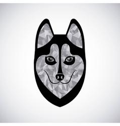 Siberian wolf design vector