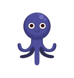 Octopus Simple Cartoon Character vector image