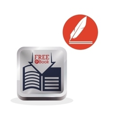 Ebook design reading icon white background vector