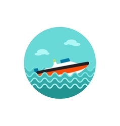 Speed boat icon summer vacation vector
