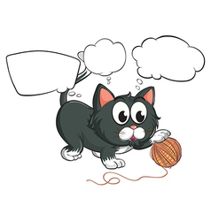 A black cat and the empty callouts vector image vector image