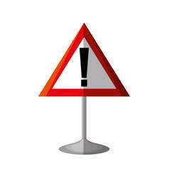 Alert symbol traffic signal vector