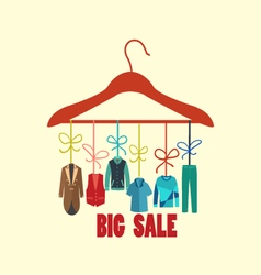 Background of Hanger with fashion men vector image vector image