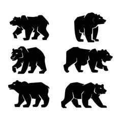 Black bear symbol vector