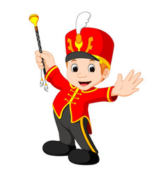 boy marching band vector image