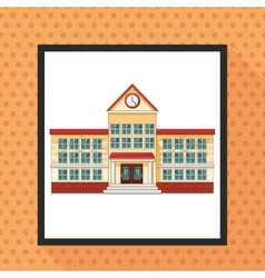 Building clock school design vector
