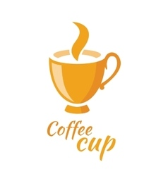 Coffee cup logo design flat isolated vector