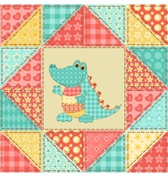 Crocodile quilt pattern vector