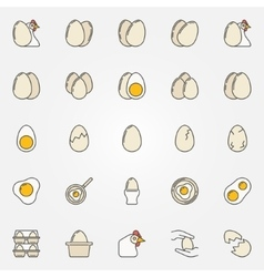 Egg icons collection vector image vector image