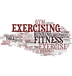 exercising word cloud concept vector image vector image