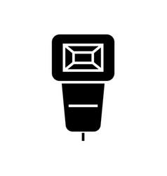 flash photo icon black sign vector image vector image