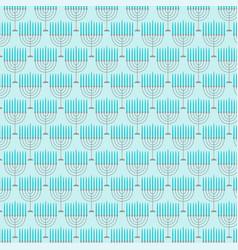 Light blue menorah pattern vector
