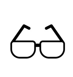 Line glasses element to can see vector