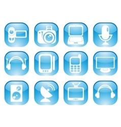 Media web icons vector