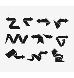 Modern flat arrows vector image