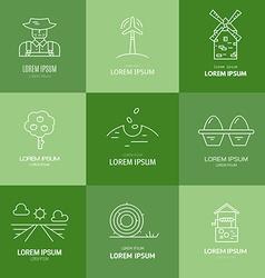 Organic farming logo vector
