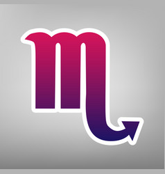 scorpio sign purple gradient vector image vector image