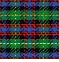 seamless pattern Scottish tartan Black Watch vector image vector image