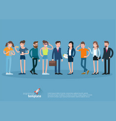 set of flat design people characters vector image vector image