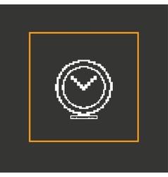 Simple stylish pixel clock icon design vector image