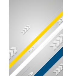 Tech minimal background with arrows and stripes vector