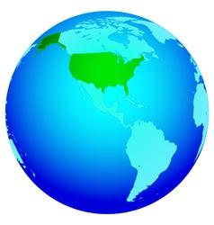 Usa on globe vector