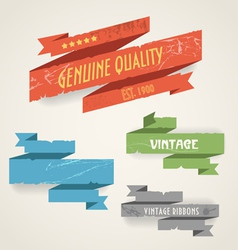 vintage ribbons vector image vector image