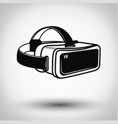 virtual reality glasses icon isolated on white vector image vector image