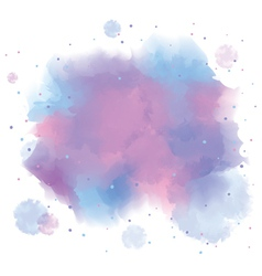 Blue spot watercolor abstract hand painted vector image