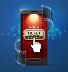 Movie cinema ticket vector