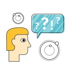 Thinking Concept In Flat Design vector image