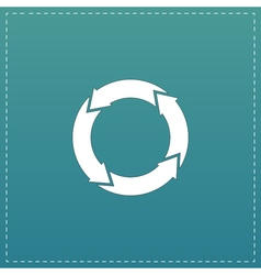 Icon of recycle vector