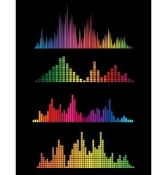 Colour music digital soundwaves vector