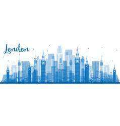 Outline London Skyline vector image