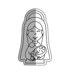 Holy virgin mary cartoon vector