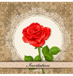Invitation rose vector