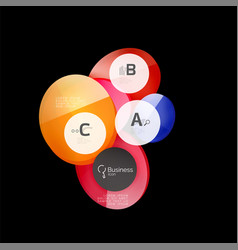glass circles on black vector image