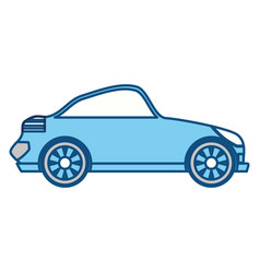 isolated sport car vector image