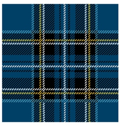 Traditional seamless blue tartan pattern vector