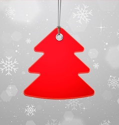 Christmas with hanging tree vector