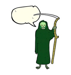 Death cartoon with speech bubble vector