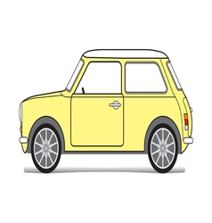 Old yellow mini vector